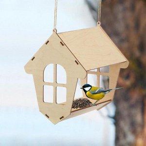 Кормушка для птиц «Избушка», 20 ? 18 ? 21 см, Greengo