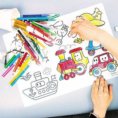 Начало семейной истории — альбомы, плакаты, стикеры — Многоразовые коврики-раскраски для детей и взрослых