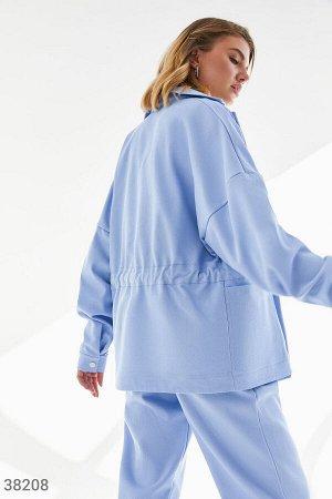 Трендовая куртка-рубашка из джинса