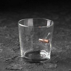 "Стакан ""Непробиваемый. Крафт"", с пулей, для виски, 250 мл"