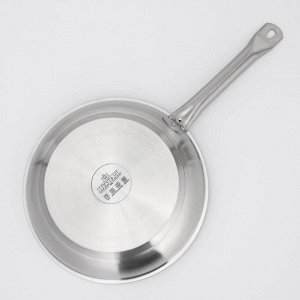 Сковорода LUXSTAHL, нержавеющая, тройное дно, d=28 см, индукция
