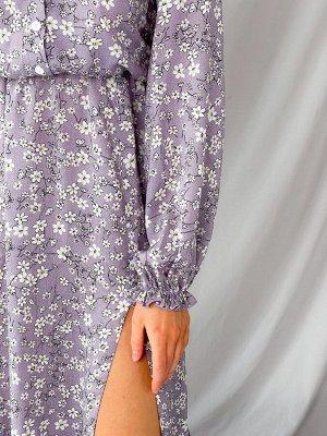 Платье Описание: –Размер:42-46 –Цвет:Сиреневый –Материал:Штапель –Страна-производитель товара:Украина –Длина изделия, см:125 см –Длина рукава, см:65 см –Длина:Макси –Длина рукав