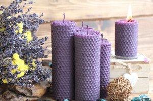 Фиолетовая свеча 20см