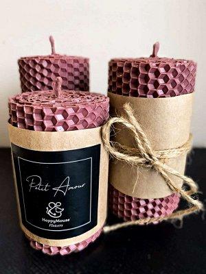 Розовая свеча 7,5см