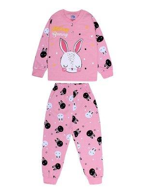 Пижама для девочки  розовый