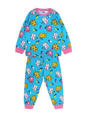 Пижама для девочки бирюзовый