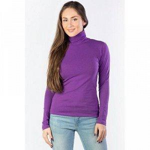 Водолазка женская фиолетовая утеплённая