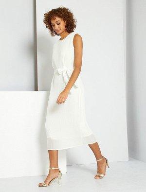 Длинное плиссированное платье