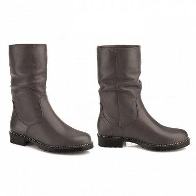 Sateg-8. Обувь из натуральной кожи 33-43 размера — Демисезон. Женские сапоги, ботфорты