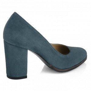 Замшевые туфли на устойчивом каблуке. Модель 2371 замша графит