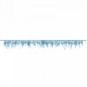 Гирлянда Перья голубые 1м/PD