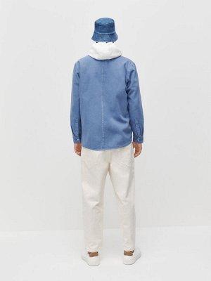 Хлопковая рубашка с карманами