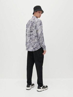 Рубашка классического кроя с узором