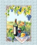 Р. Полотенце Грузия (бутылка вина)50х63   Купон Вафельное