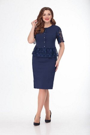 Жакет, юбка Anelli 750 синий