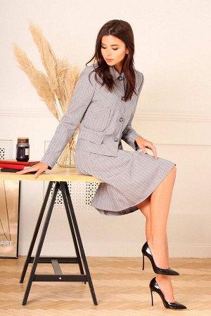 Жакет, юбка Асолия 1146 светло-серый