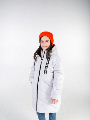 101270/1 (серый) Пальто для девочки