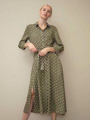 Платье-Рубашка с принтом PL864/define