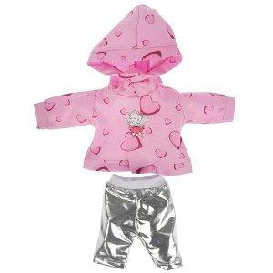 OTF-2101S-RU Одежда для кукол 40-42см,костюм розовый худи и серебристые легинсы КАРАПУЗ в кор.100шт