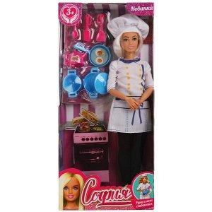 66009-SPS-BB Кукла 29 см София повар, руки и ноги сгибаются, plus size, акс , в кор КАРАПУЗ в кор.24шт