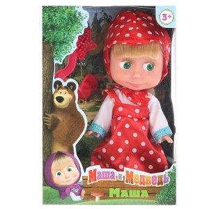83030WOSP Кукла Маша И МЕДВЕДЬ 15 см, без звука, в розовом платье, в кор КАРАПУЗ в кор.30шт