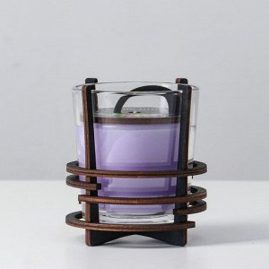 Ароматическая свеча в стекле с декором ORCHID, 10х9,5 см, 150 гр 6770866