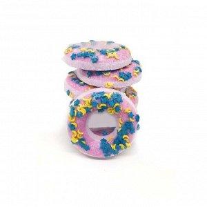 """Бомбочка для ванн """"Пончик. Фиолетовый с посыпкой"""""""