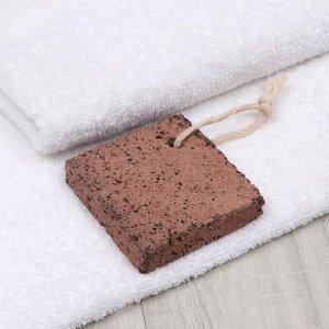 Пемза для педикюра, 8 ? 8 см, цвет коричневый