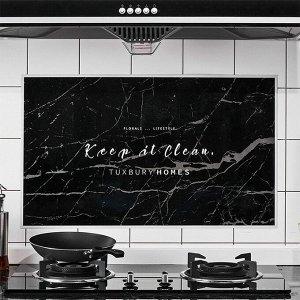 """Наклейка жироотталкивающая для кухни """"Keep it Clean"""" 75*45 см (Черный) (1692)"""