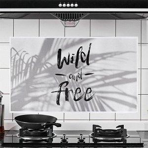 """Наклейка жироотталкивающая для кухни """"Wild and Free"""" Белый 75*45 см (1715)"""