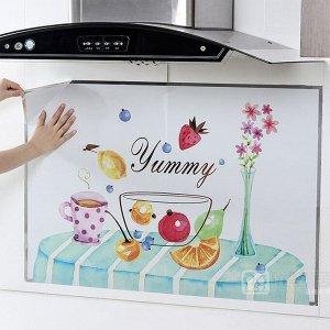 """Наклейка жироотталкивающая для кухни """"Yummy"""" 90*60 см (1640)"""