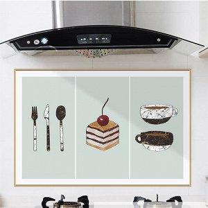 """Наклейка жироотталкивающая для кухни """"ПИРОЖНОЕ"""" 90*60 см (1641)"""