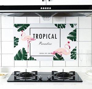 Наклейка жироотталкивающая для кухни Фламинго 75*45 см (1099)