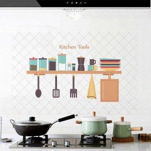 Наклейка жироотталкивающая для кухни «Kitchen Tools» 90*60 см (1472)