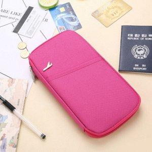 Многофункциональный холдер для путешествий Ярко-розовый