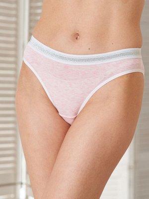 Комплект Silvia розовый меланж (топ+трусы)  (хлопок 75% PE 20% эластан 5%)
