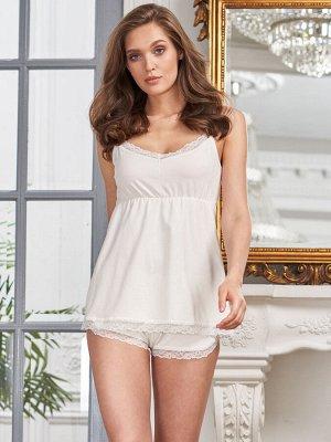 Пижама Beatris молоко  (хлопок 95% эластан 5%)