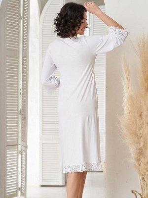 Сорочка Aurelia белая  (вискоза 80% хлопок 15% эластан 5%)