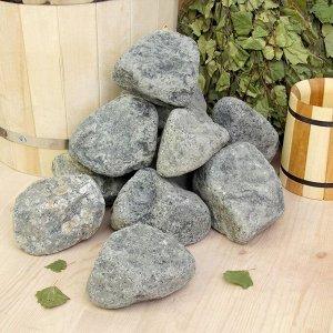 "Камень для бани ""Габбро-диабаз"" галтованный, ""Добропаровъ"" коробка 20кг, фракция 70-120мм"