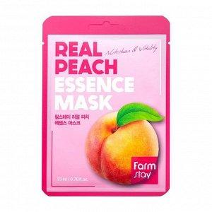 Farm Stay Real Peach Essence Mask Восстанавливающая маска с экстрактом персика 23 мл