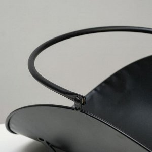 Дровница 49*30см, цвет чёрный