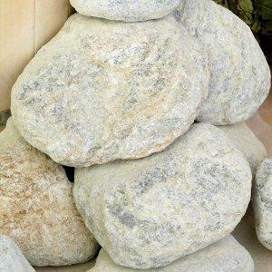 """Камень для бани """"Талькохлорит"""" галтованный, """"Добропаровъ"""" коробка 20кг, фракция 70-120мм"""
