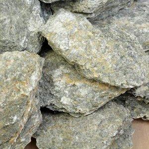 """Камень для бани """"Талькохлорит"""" колотый, """"Добропаровъ"""" коробка 20кг, фракция 70-120мм"""