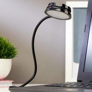 Светильник 16040/1 LED 0.5Вт USB черный 6х6х2 см