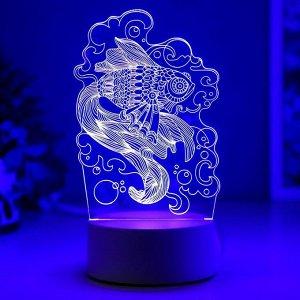 "Светильник ""Карась"" LED RGB от сети 9.5х11х20 см"