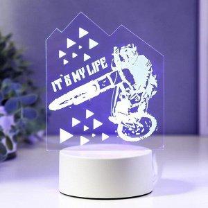 """Светильник """"Мото"""" LED RGB от сети 9,5х12х18,5 см"""