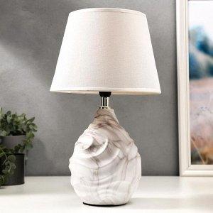 Лампа настольная 16429/1WT E14 40Вт бело-серый 22.5х22.5х37 см