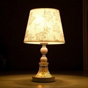 "Лампа настольная ""Розы"" Е27 220В низ с подсветкой. диоды 39.5х23х23 см"