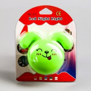 "Ночник LED ""Кролик"".7 см. 4W (V220) МИКС пластик"