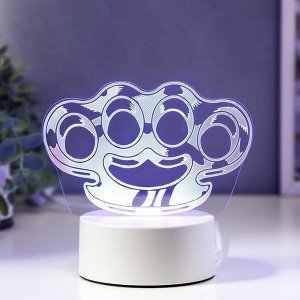 "Светильник ""Кастет"" LED RGB от сети 9,5х15х14 см"
